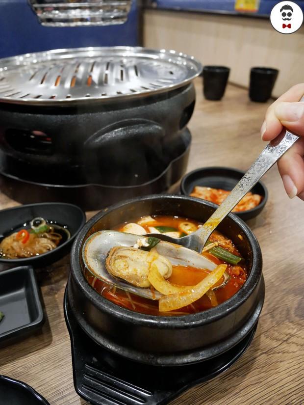 Silken tofu soup seafood