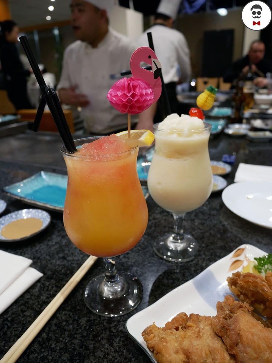 Japanese Sunset & Virgin Pina Colada