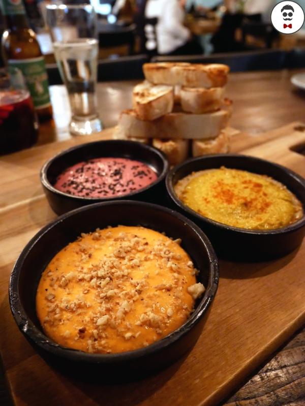 Hummus, Fel-fel and Beet Labneh