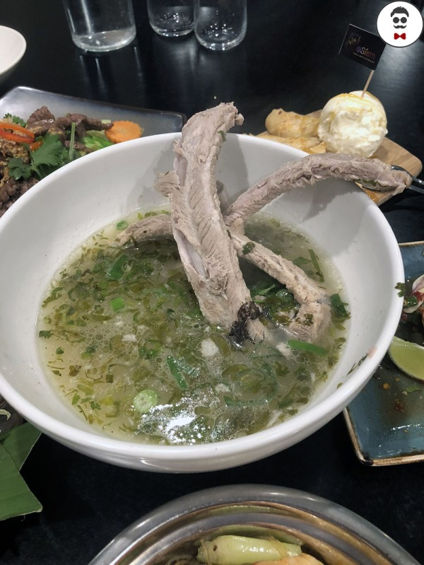 Tom zap leng (Hot and spicy Thai style pork bones and ribs soup)