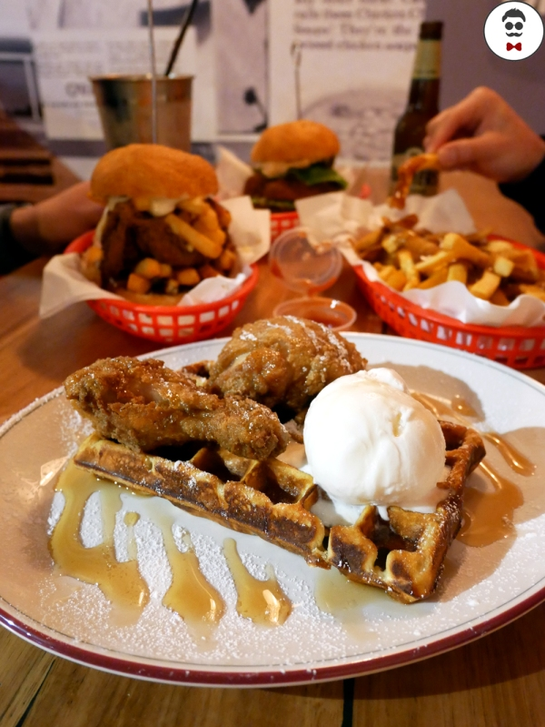 The Chicken waffles